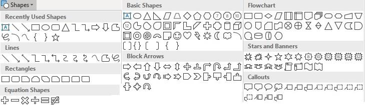 Demonstrating Excel shapes