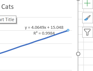 excel formula of curve and R squared value